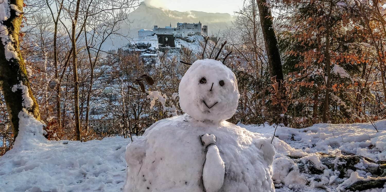 salzbourg chateau neige