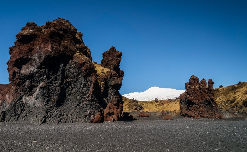 Snæfellsjökull roches plages sable noir