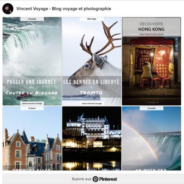 s'abonner à Pinterest du blog vincent voyage