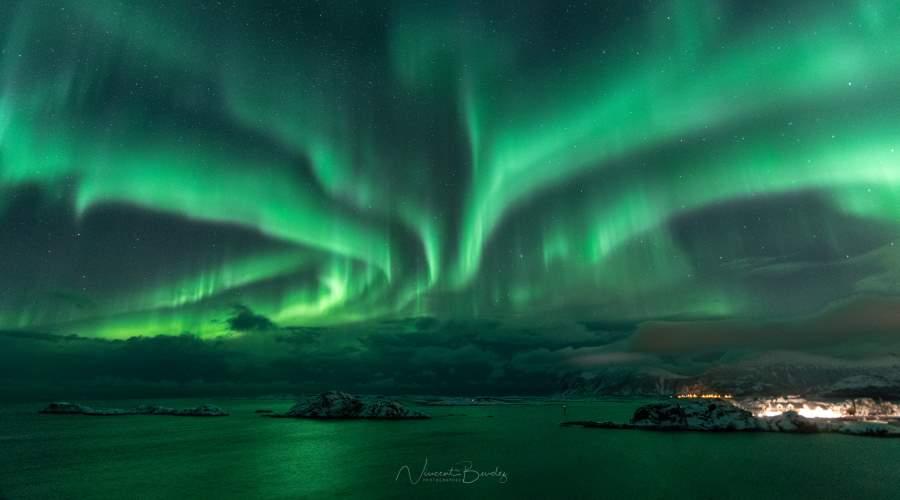 Aurores boréales Senja Norvège
