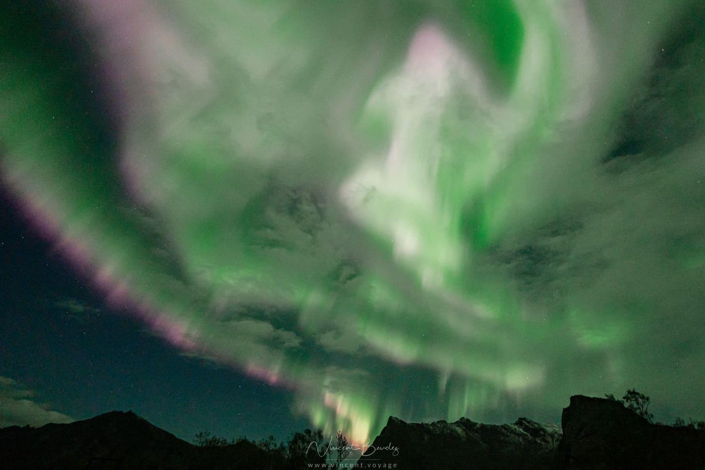 Corona aurores boréales Norvège
