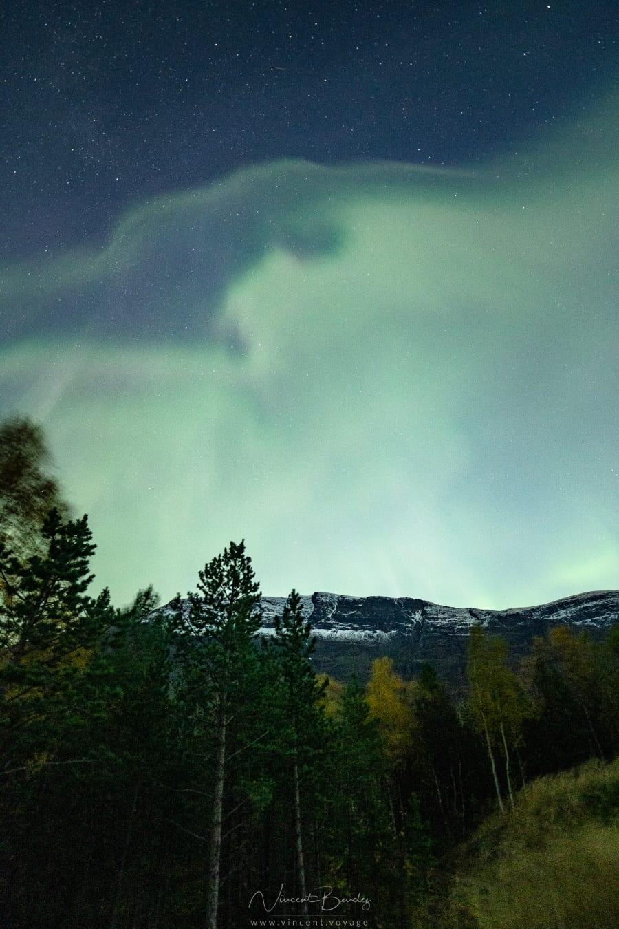 Aurores boréales norvege