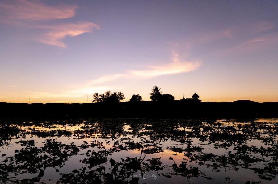 coucher de soleil lac inle birmanie blog vincent voyage