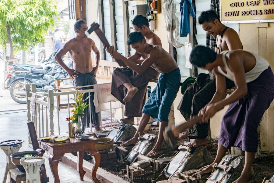 batteurs d'or Mandalay