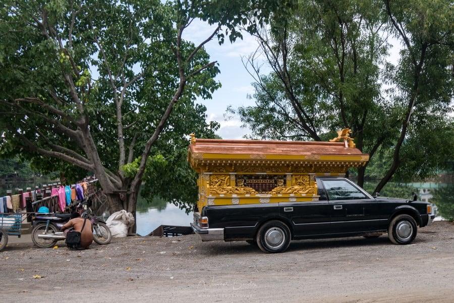 Rues de Mandalay en Birmanie