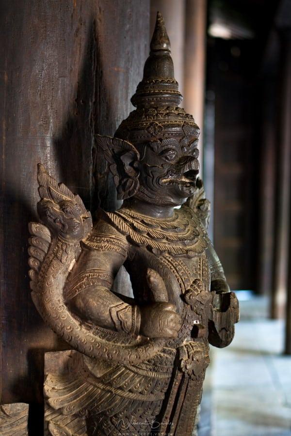 monastère de Bagaya Kyaung à Inwa Birmanie