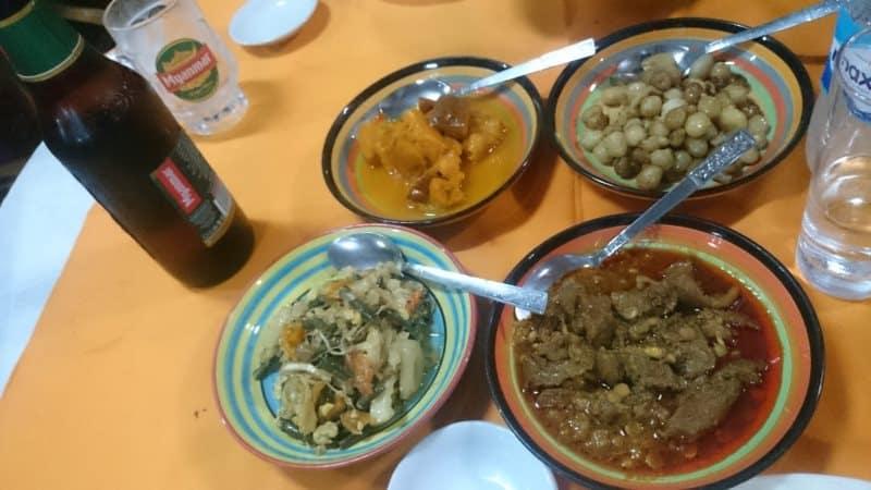 Moe cherry restaurant Mrauk U