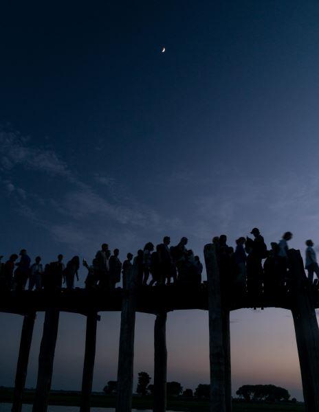 coucher de soleil pont u bein Birmanie | Blog Vincent Voyage
