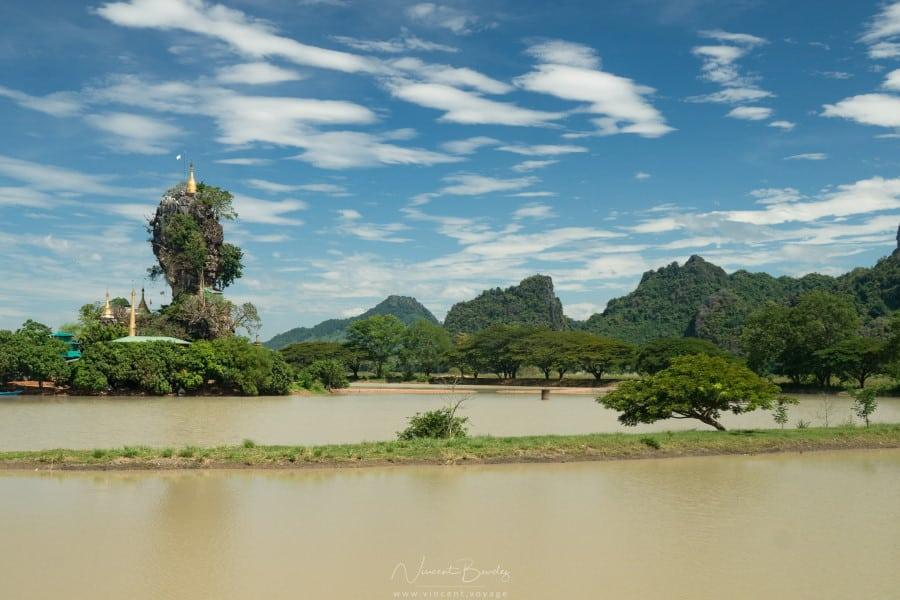 monastère Kyauk Kalap Hpa An birmanie