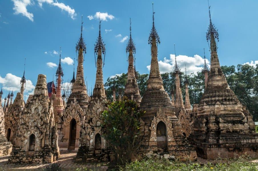 Stupas pagodes kakku lac inle en Birmanie Myanmar   Blog Vincent Voyage