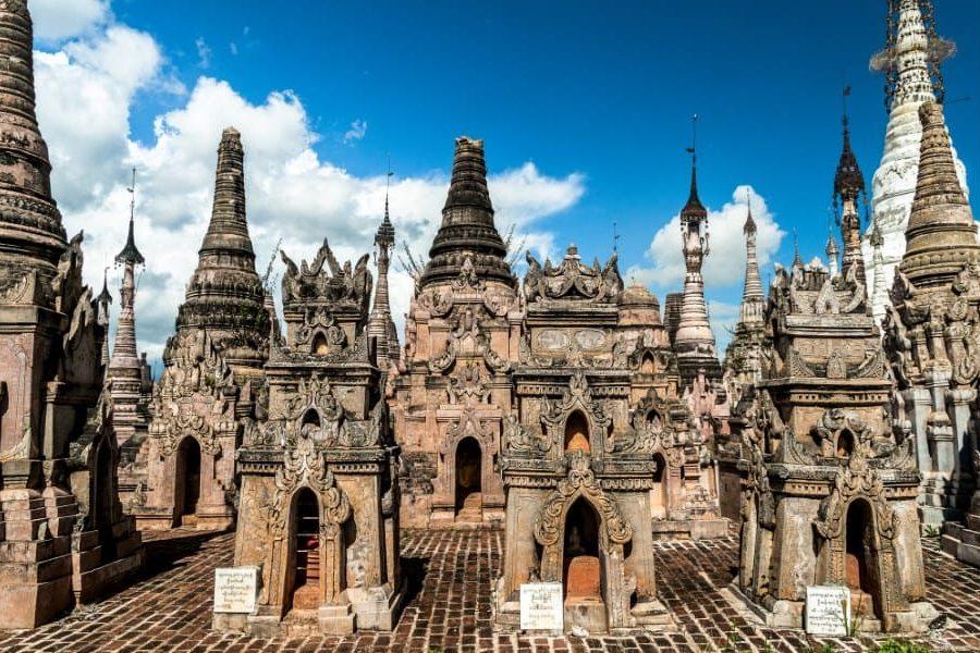 Stupas pagodes kakku lac inle en Birmanie Myanmar | Blog Vincent Voyage