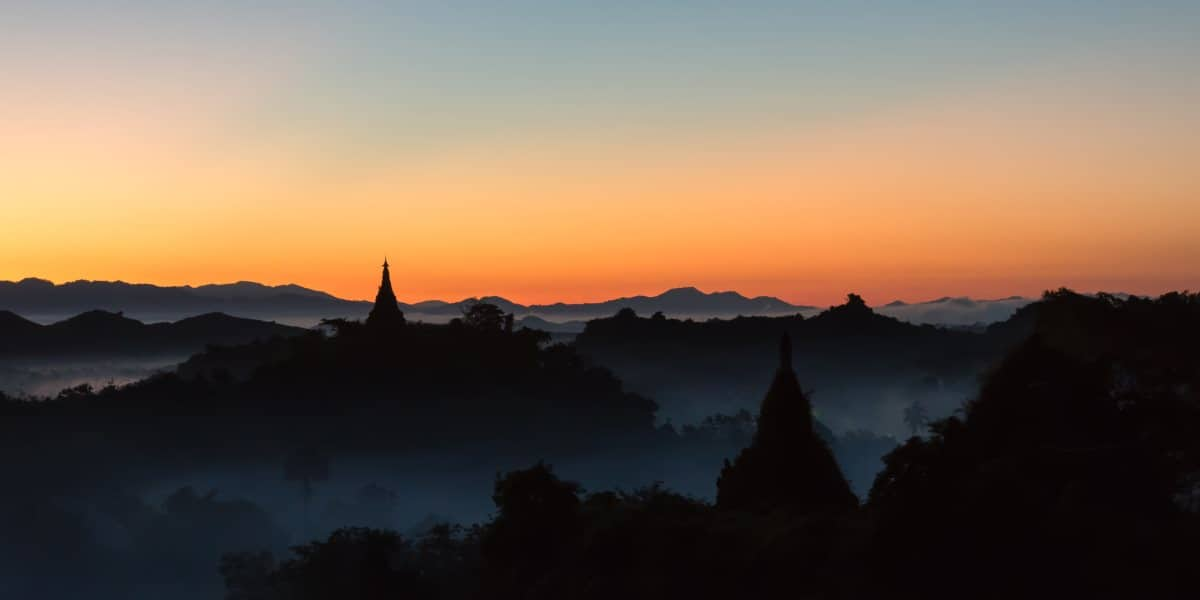 sunrise shwe taung pagoda