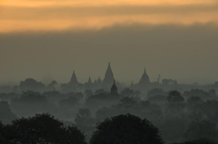 lever soleil bagan temples Birmanie Myanmar | Blog Vincent Voyage