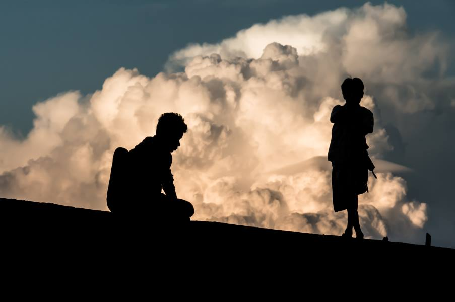 mont kyaiktiyo enfants nuages Birmanie Myanmar | Blog Vincent Voyage