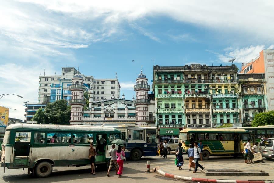 Visite de Yangon en Birmanie