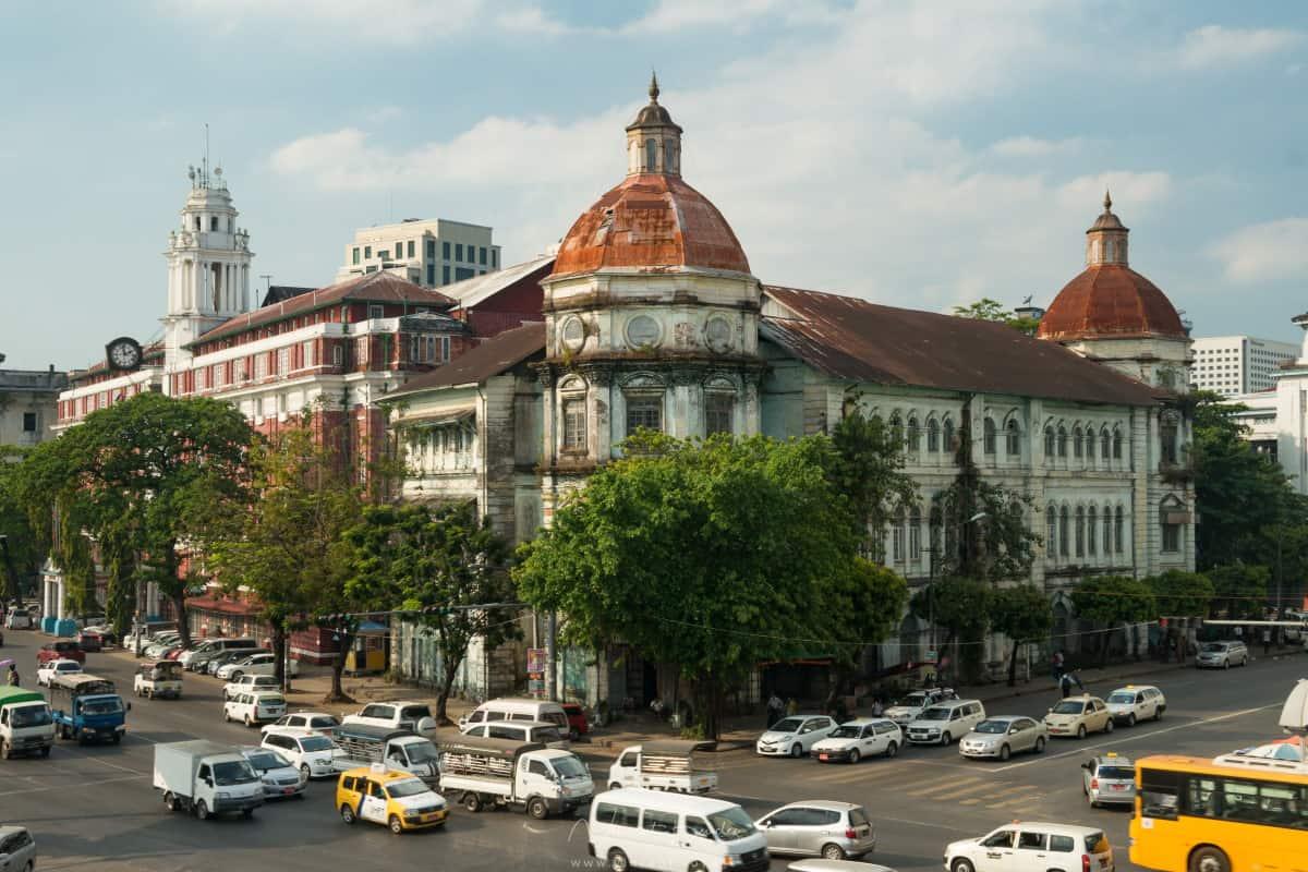 Yangon architecture coloniale en Birmanie