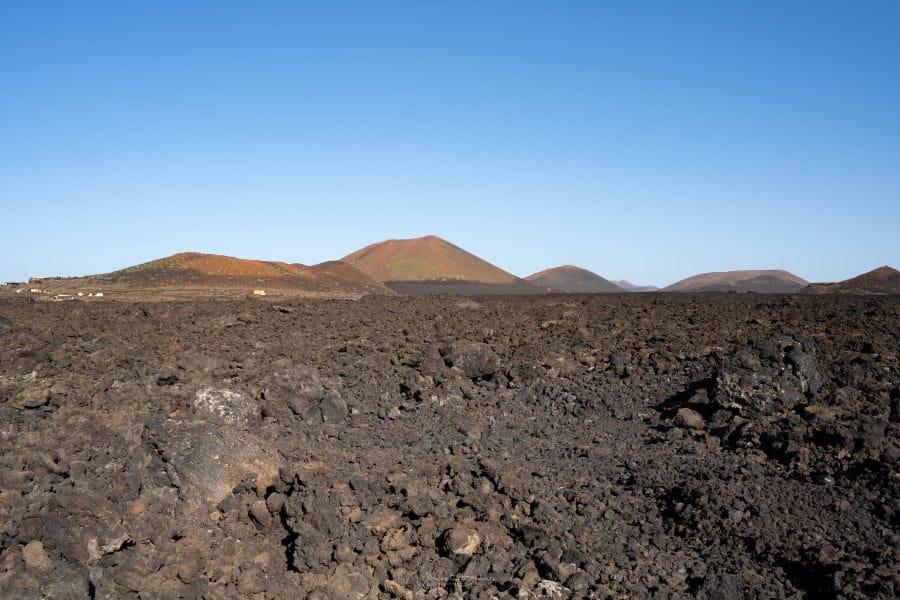 volcans Los Bardou Lanzarote Iles Canaries