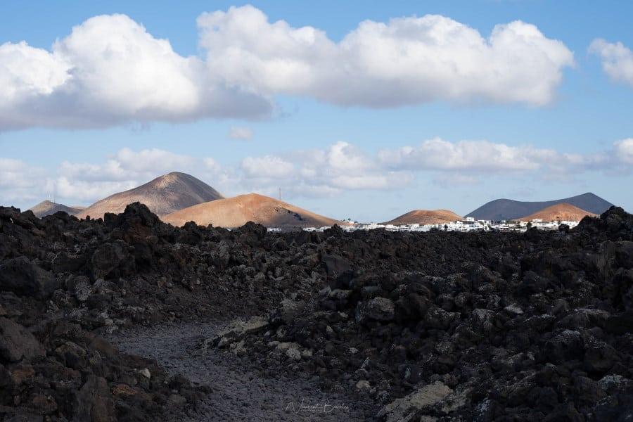 vue balade Lanzarote Caldera Iles Canaries Blanca