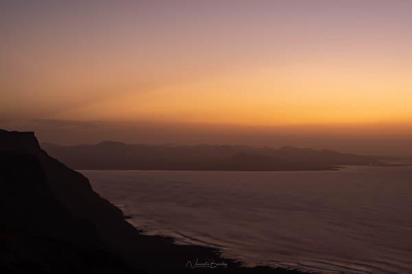 Coucher de soleil Mirador del Rio Lanzarote aux Ile Canaries