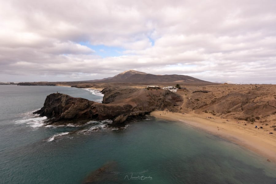 Plage de Papagayo à Lanzarote aux Iles Canaries