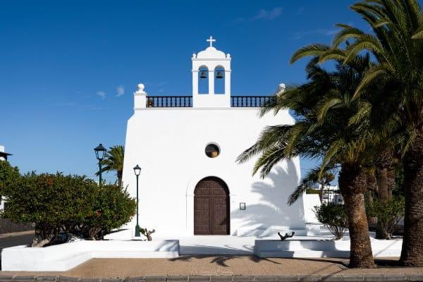 Eglise du village de Uga à Lanzarote iles Canaries