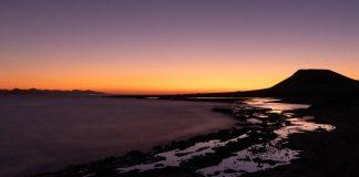 coucher de soleil sur la graciosa iles canaries plus belles photos voyage