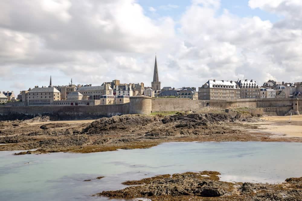 Vue Saint Malo depuis Grand bé