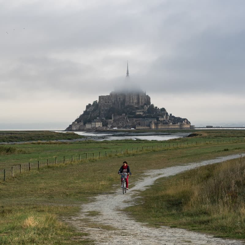 Le mont saint michel à marée basse