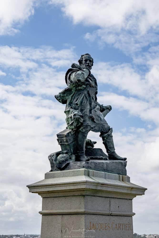 statue jacques cartier saint malo