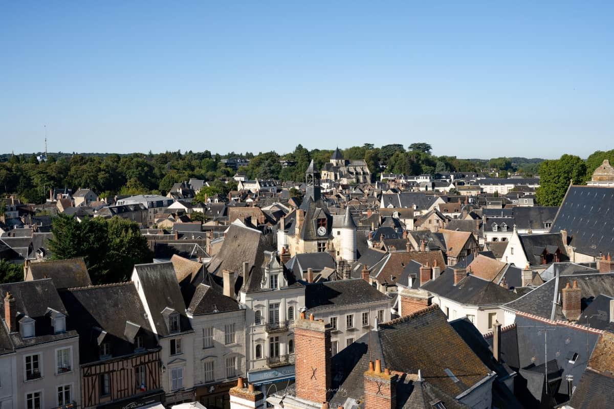 ville amboise vue depuis le château