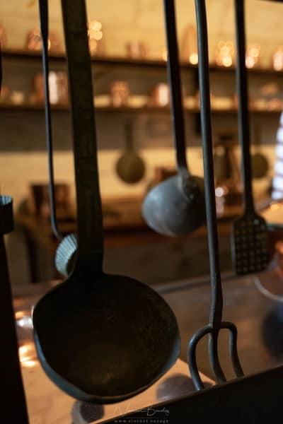 ustensiles de cuisine du château de Chenonceau