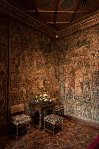 salon et tapisserie au château de Chenonceau