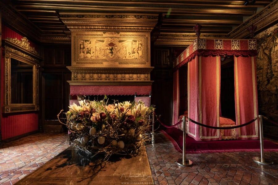 Une chambre au chateau de Chenonceau