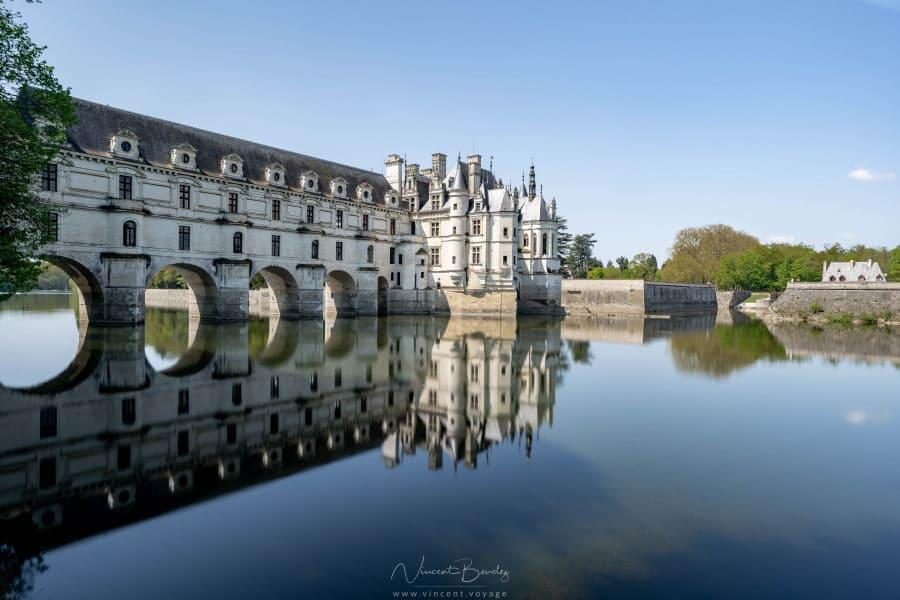 Le château de Chenonceau sur les rives du Cher