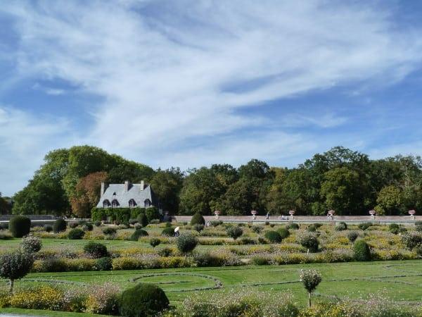 Jardin Diane de Poitiers au château de Chenonceau