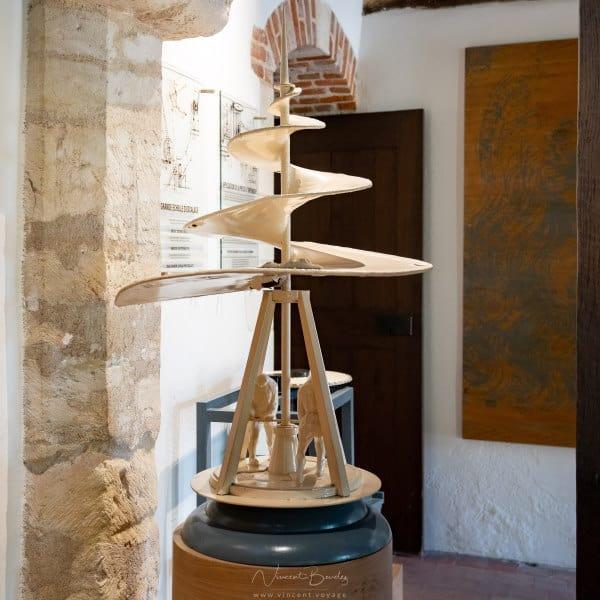 maquette au Clos Lucé à Amboise dans les Chateaux de la Loire