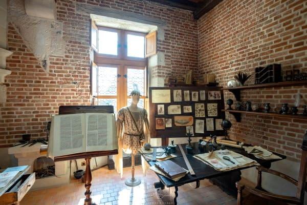 Atelier Leonard de Vinci au Clos Lucé à Amboise