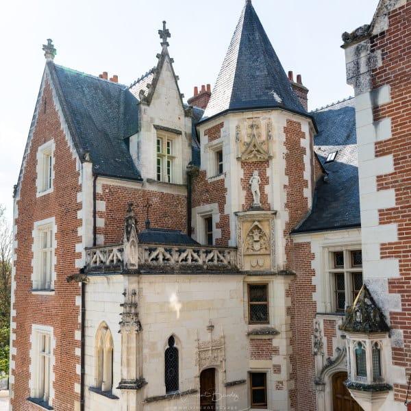Chateau du Clos Lucé à Amboise dans les Châteaux de la Loire