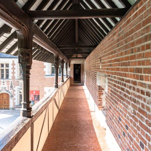 Architecture du clos lucé à Amboise dans les chateaux de la Loire