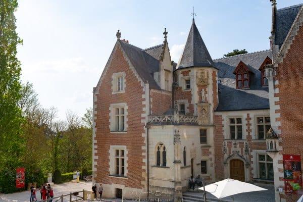 Chateau du clos Lucé à Amboise dans les chateaux de la loire