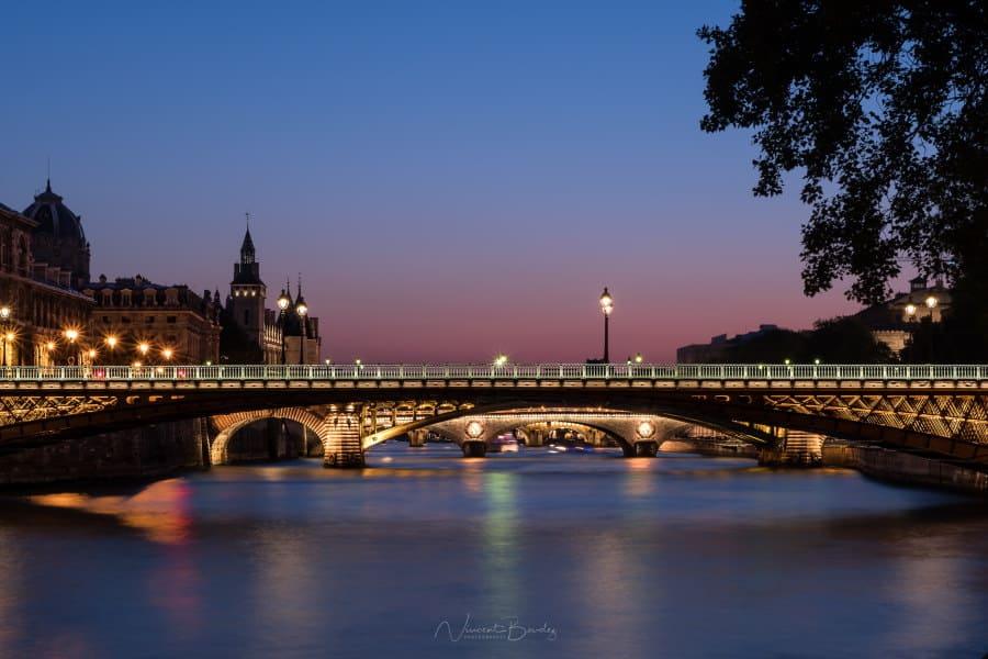 coucher soleil paris quai seine france blog vincent voyage