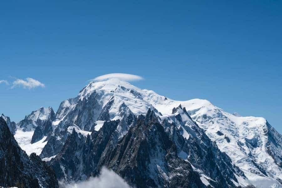 Vue mont blanc grands montets | Blog Vincent Voyage