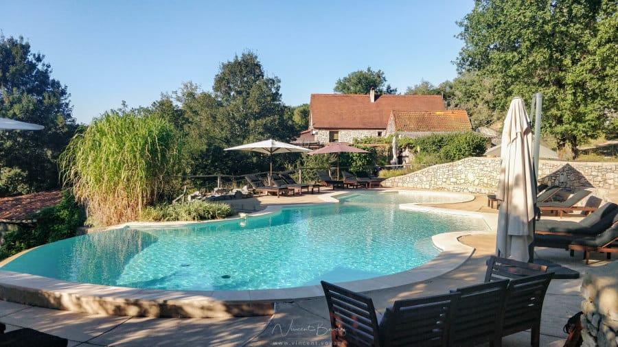 piscine lodges du mas de nadal dans le Lot France