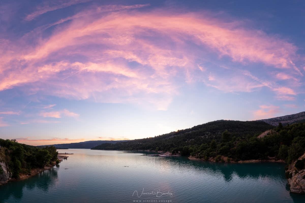 lac de sainte croix coucher de soleil