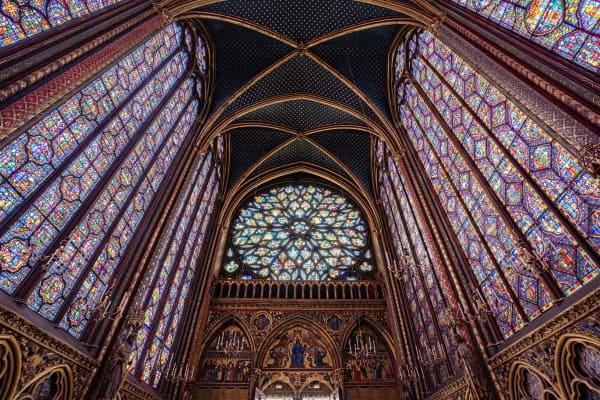 Rosace de la Sainte Chapelle de Paris