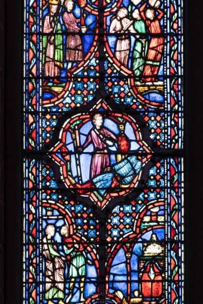 Scene des vitraux de la Sainte Chapelle