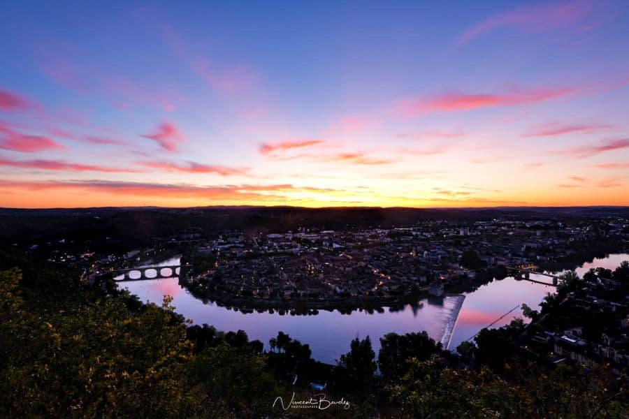 coucher de soleil cahors Lot Occitanie | Blog Vincent Voyage