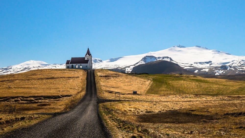 Snæfellsjökull eglise Snæfellsnes paysages montagnes visiter photo volcan glacier en Islande | Blog Vincent Voyage