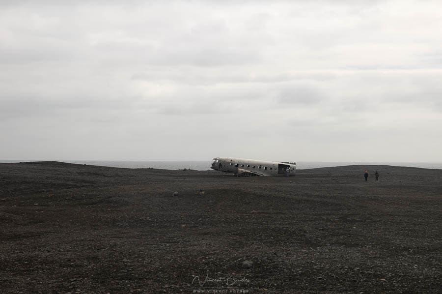 DC3 avion abandonné sur la plage en Islande