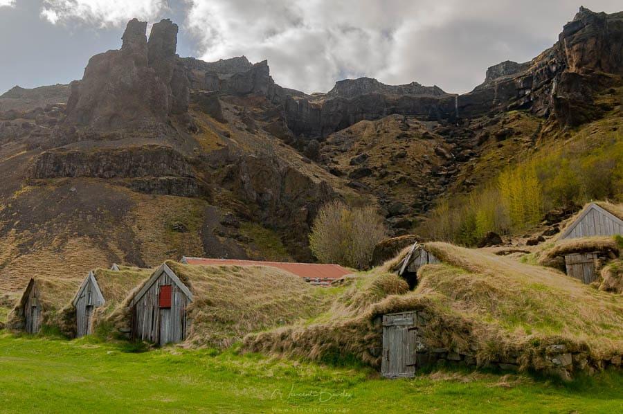 village abandonné nupsstadur en Islande